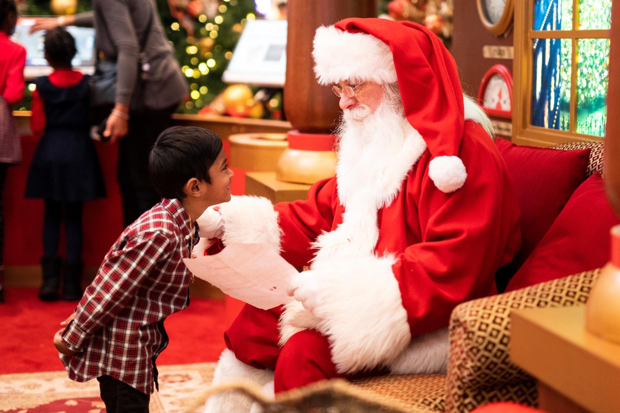 Kerstman geschenklijst
